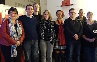 Equipe de l'UD FO 90 mars 2017 avec Michelle Biaggi